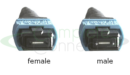 MTP connector 12 fibre male female MPO