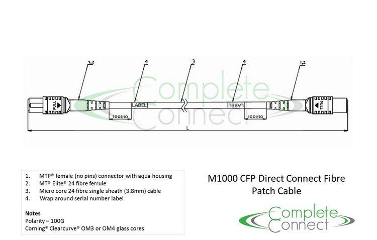 100G MTP trunk cable 24 fibre