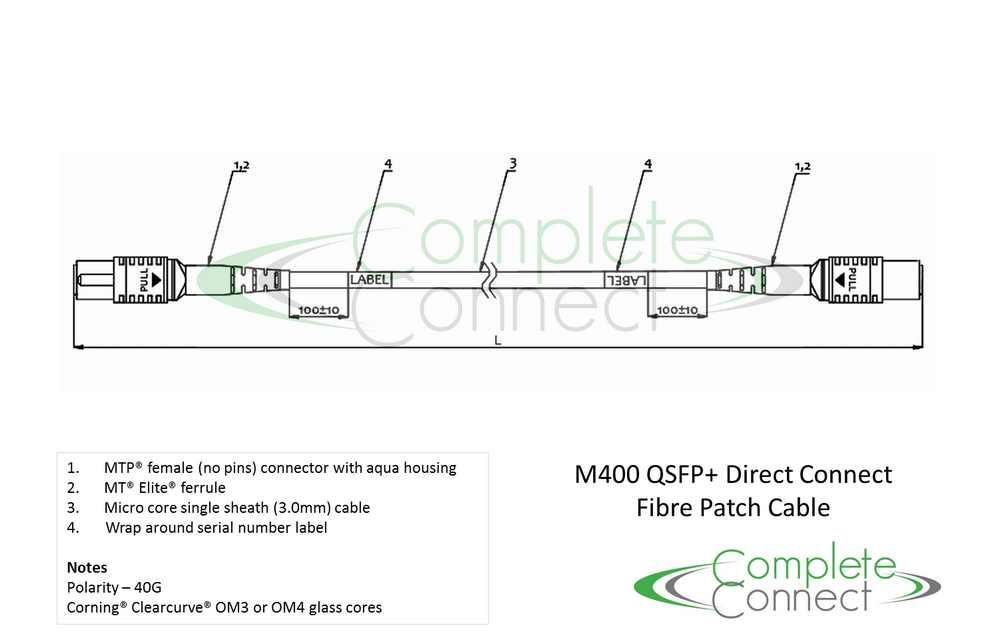 qsfp+ 40G MTP fibre patch cable