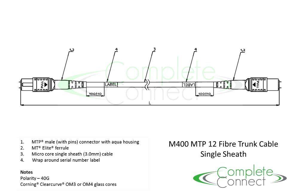 40G MTP 12 fibre trunk cable