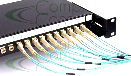 Fibre patch panel with LC ports