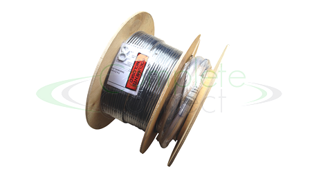 Pre-terminated fibre cable triple flange drum