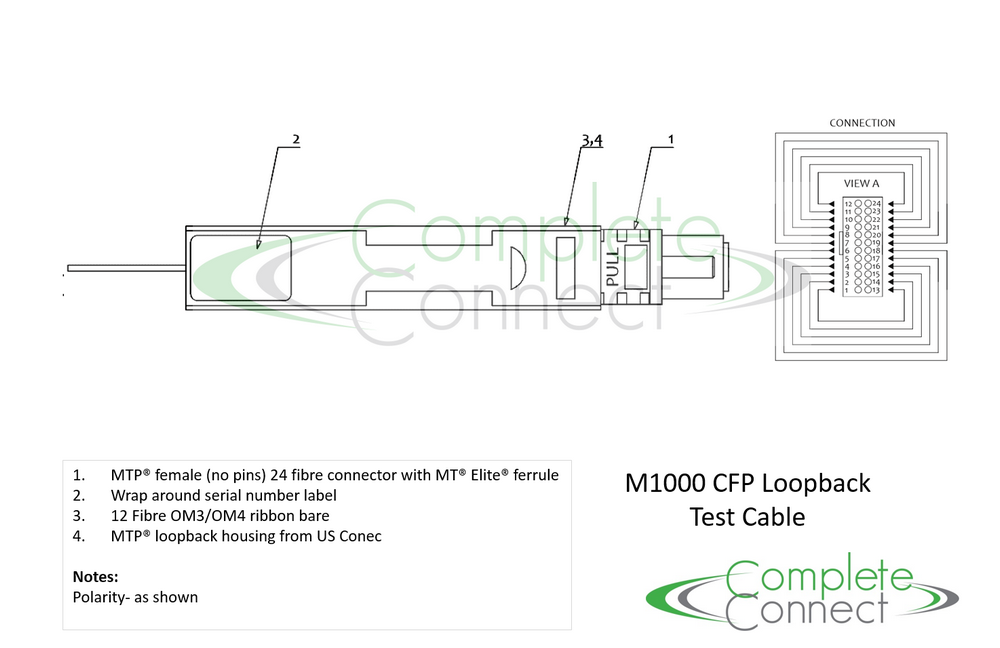 M1000 100G Loopback Test Cable